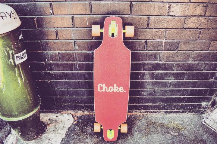Choke, my longboard